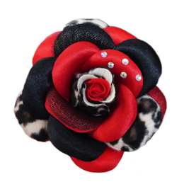 Scarlett Collar Flower - Red