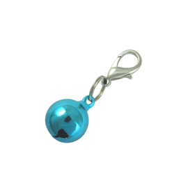 Bell Charm - Metallic Blue
