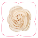 Dahlia Collar Flower - Beige