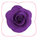 Hannah Collar Flower - Purple