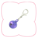 Bell Charm - Metallic Purple