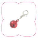Bell Charm - Metallic Red